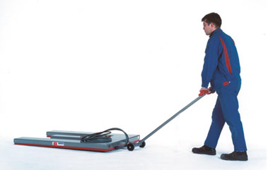 Flat lift Safety-Line with transport roller
